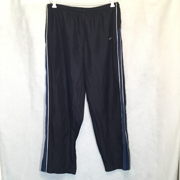 Nike Other - Nike XL Track Pants Navy Blue White Striped Mens